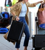 Mandy Moore braves the wind as she departs out of JFK airport in New York after attending the MET Gala.  Pictured: mandy moore Ref: SPL1491129  020517   Picture by: Ryan Turgeon / Splash News  Splash News and Pictures Los Angeles:	310-821-2666 New York:	212-619-2666 London:	870-934-2666 photodesk@splashnews.com