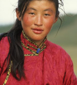 A young northern Mongolian woman herder.